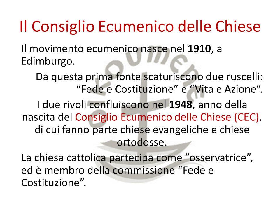 Il Consiglio Ecumenico delle Chiese