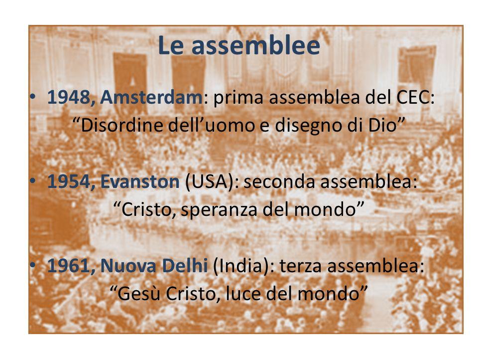 Le assemblee 1948, Amsterdam: prima assemblea del CEC: