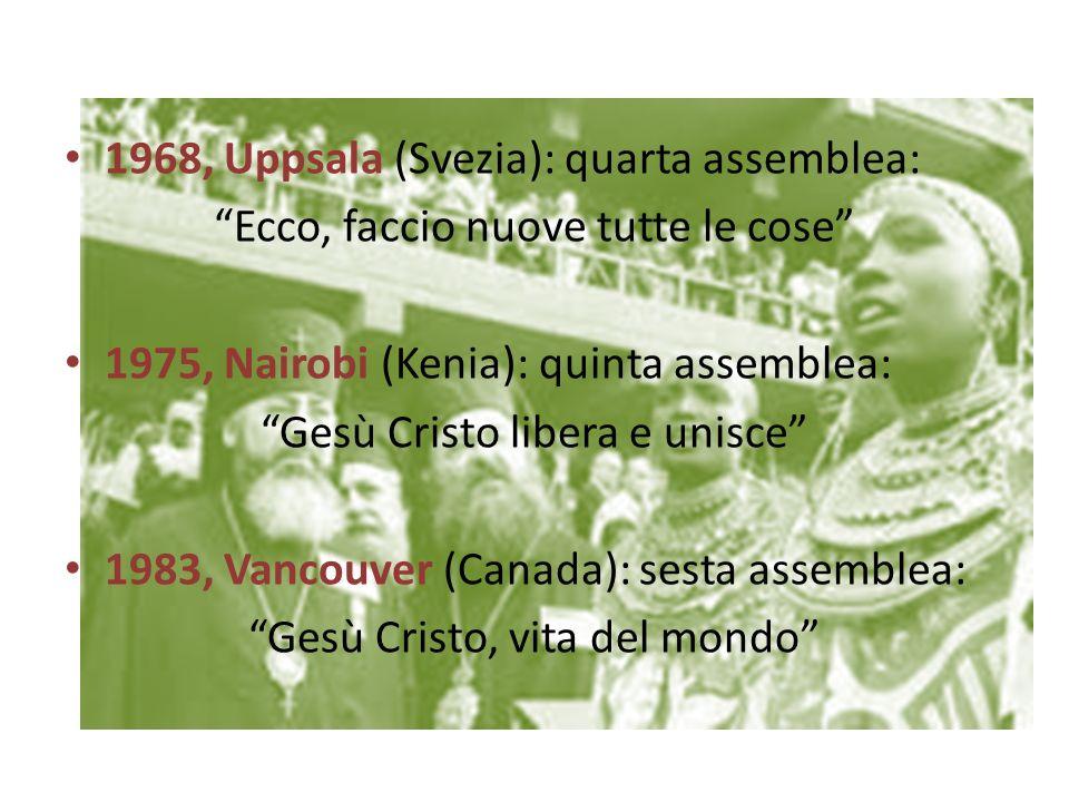 1968, Uppsala (Svezia): quarta assemblea: