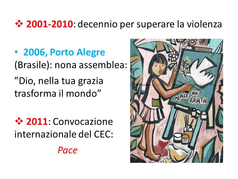 2001-2010: decennio per superare la violenza