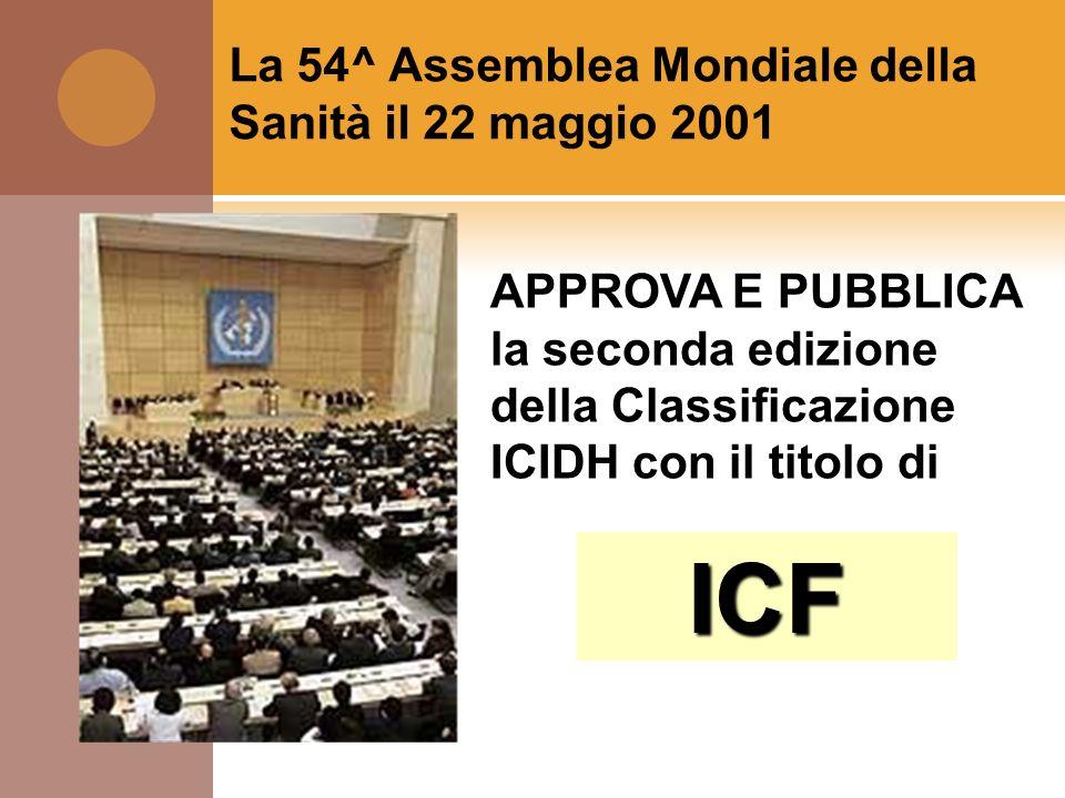 ICF La 54^ Assemblea Mondiale della Sanità il 22 maggio 2001
