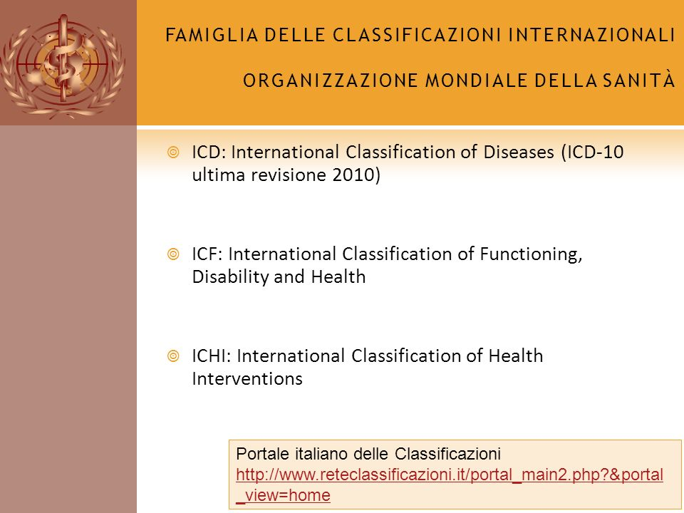 ICHI: International Classification of Health Interventions