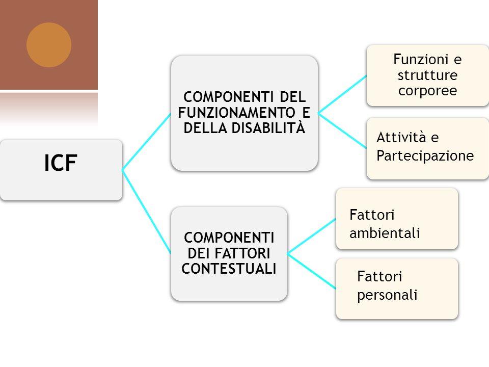 ICF COMPONENTI DEL FUNZIONAMENTO E DELLA DISABILITà