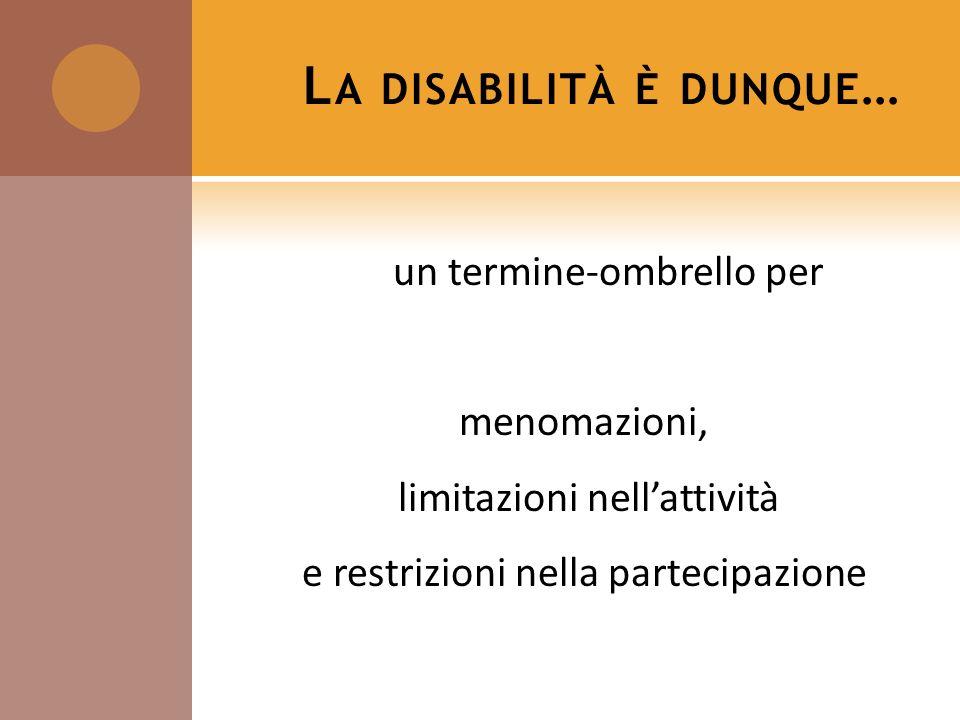La disabilità è dunque…