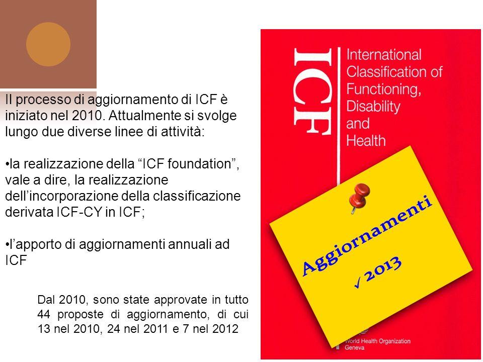 l'apporto di aggiornamenti annuali ad ICF