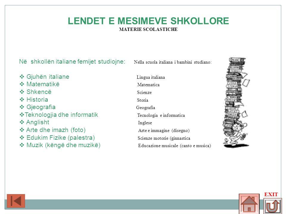 LENDET E MESIMEVE SHKOLLORE