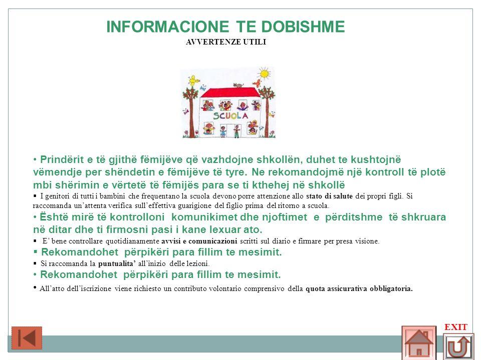 INFORMACIONE TE DOBISHME