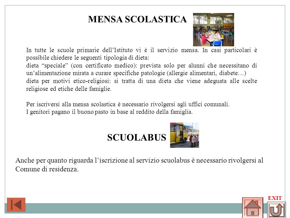 Mensa scolastica SCUOLABUS