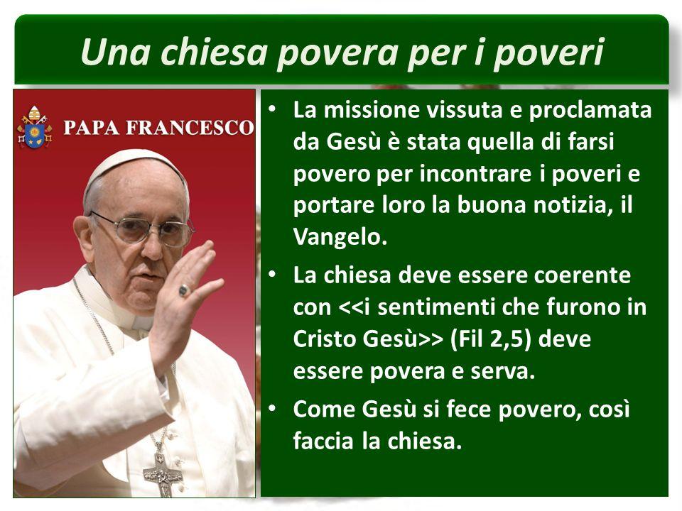 Una chiesa povera per i poveri