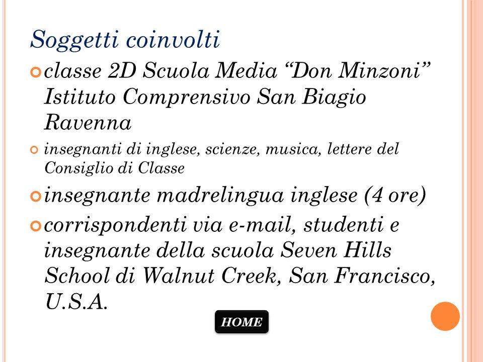 Soggetti coinvolti classe 2D Scuola Media Don Minzoni Istituto Comprensivo San Biagio Ravenna.