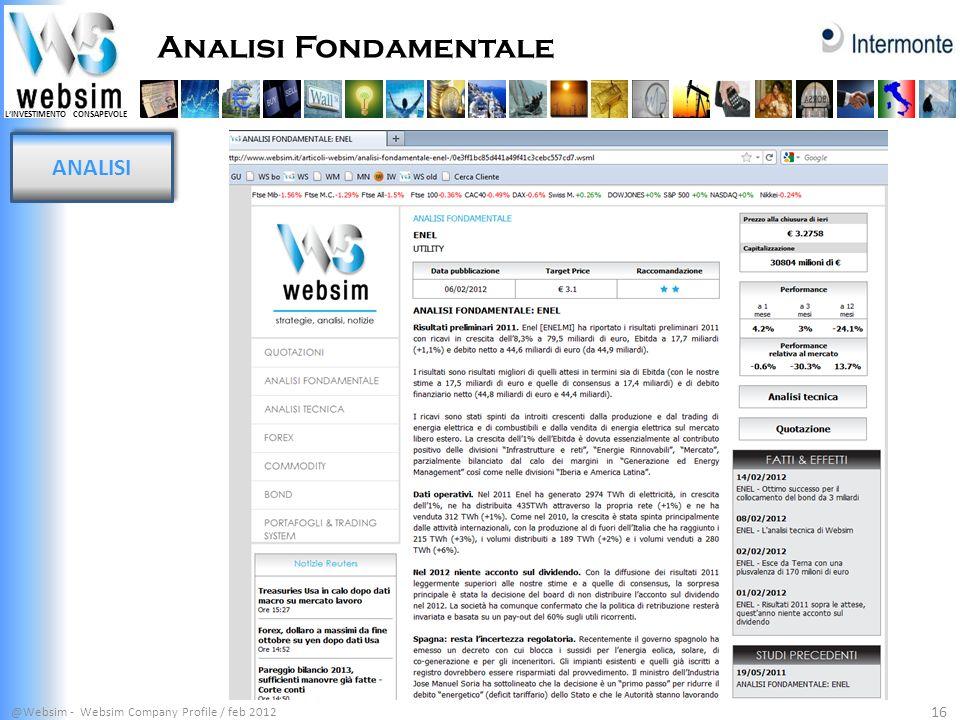 Analisi Fondamentale ANALISI