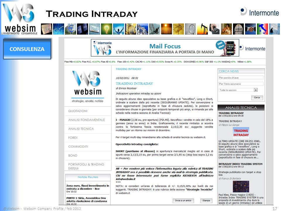 Trading Intraday CONSULENZA