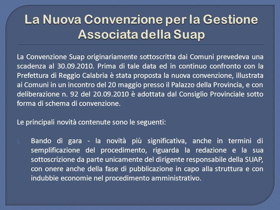La Nuova Convenzione per la Gestione Associata della Suap