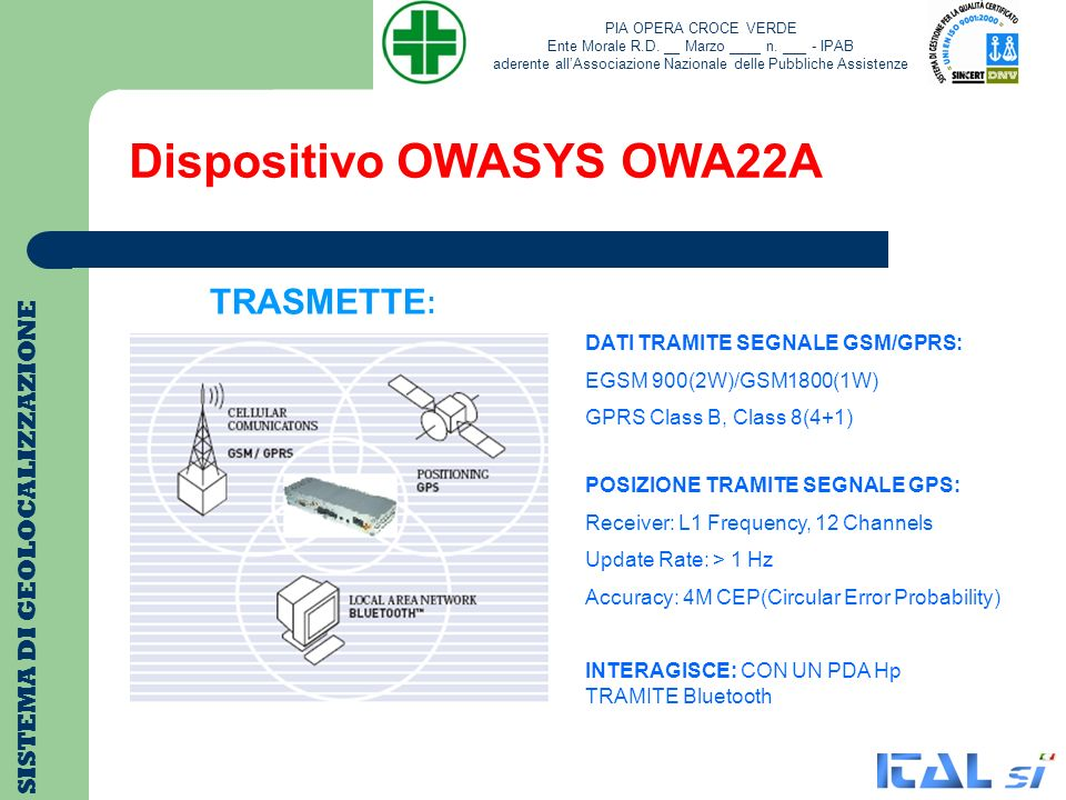 Dispositivo OWASYS OWA22A