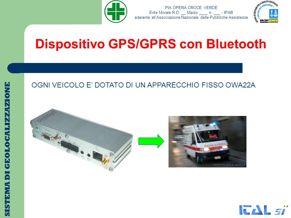Dispositivo GPS/GPRS con Bluetooth