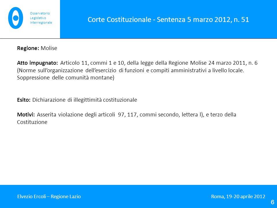 Corte Costituzionale - Sentenza 5 marzo 2012, n. 51