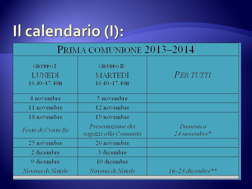 Il calendario (I):