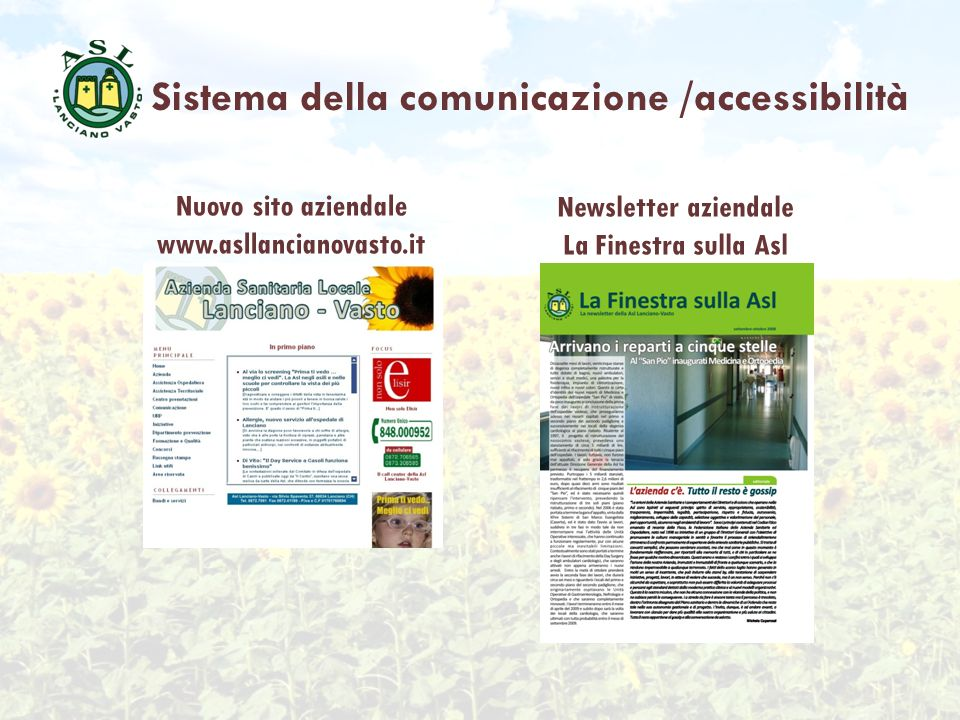 Sistema della comunicazione /accessibilità