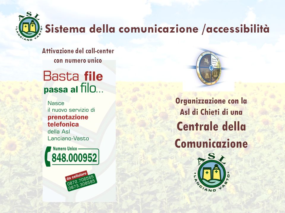 Attivazione del call-center