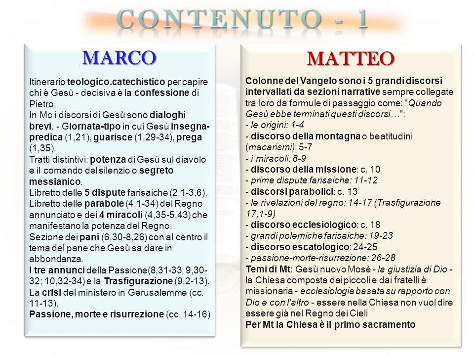 coNTENUTO - 1 MARCO MATTEO