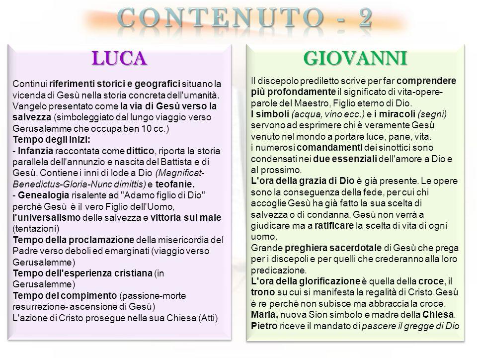 Contenuto - 2 LUCA GIOVANNI