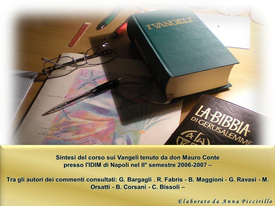Sintesi del corso sui Vangeli tenuto da don Mauro Conte
