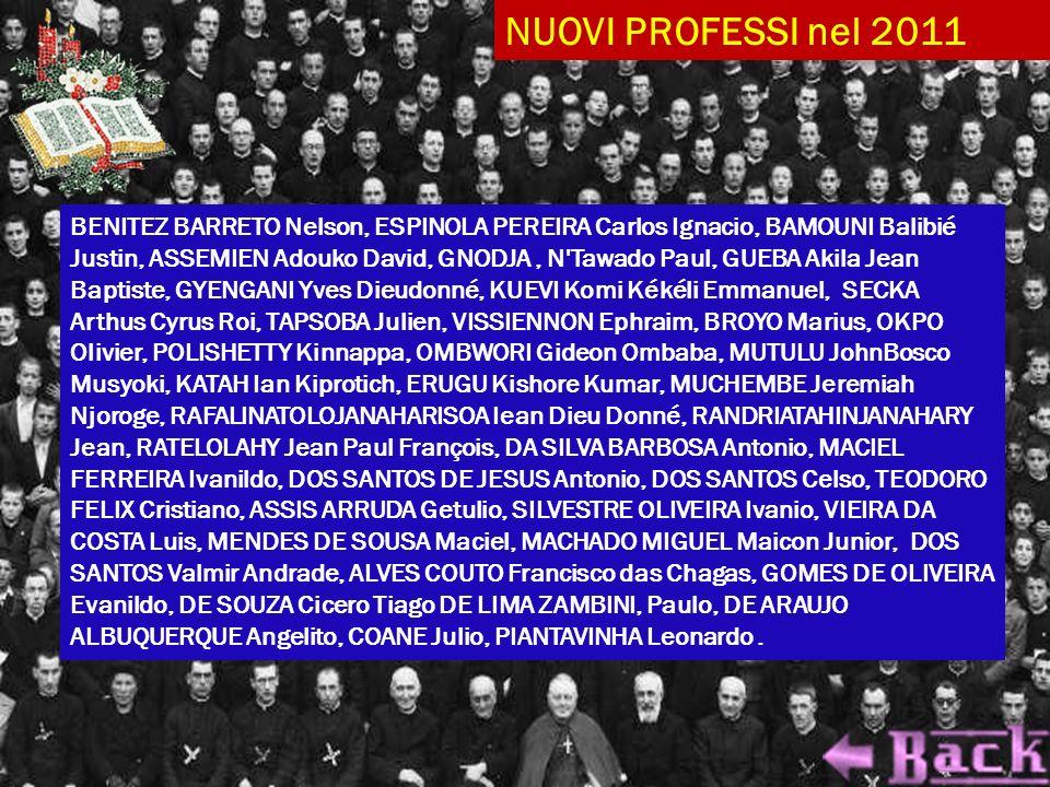 NUOVI PROFESSI nel 2011
