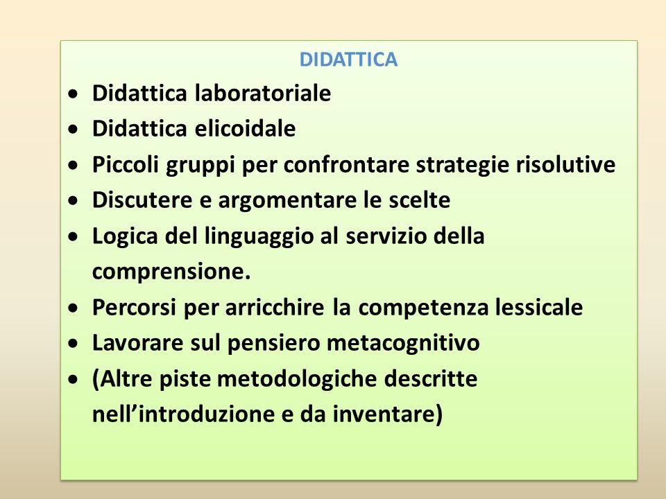 Didattica laboratoriale Didattica elicoidale