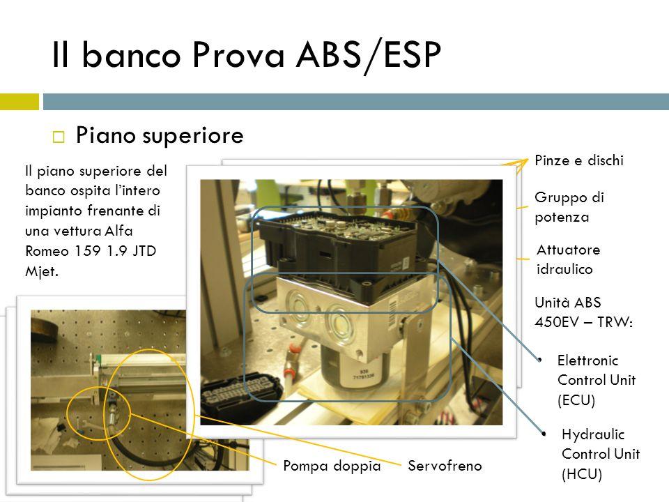 Il banco Prova ABS/ESP Piano superiore Pinze e dischi