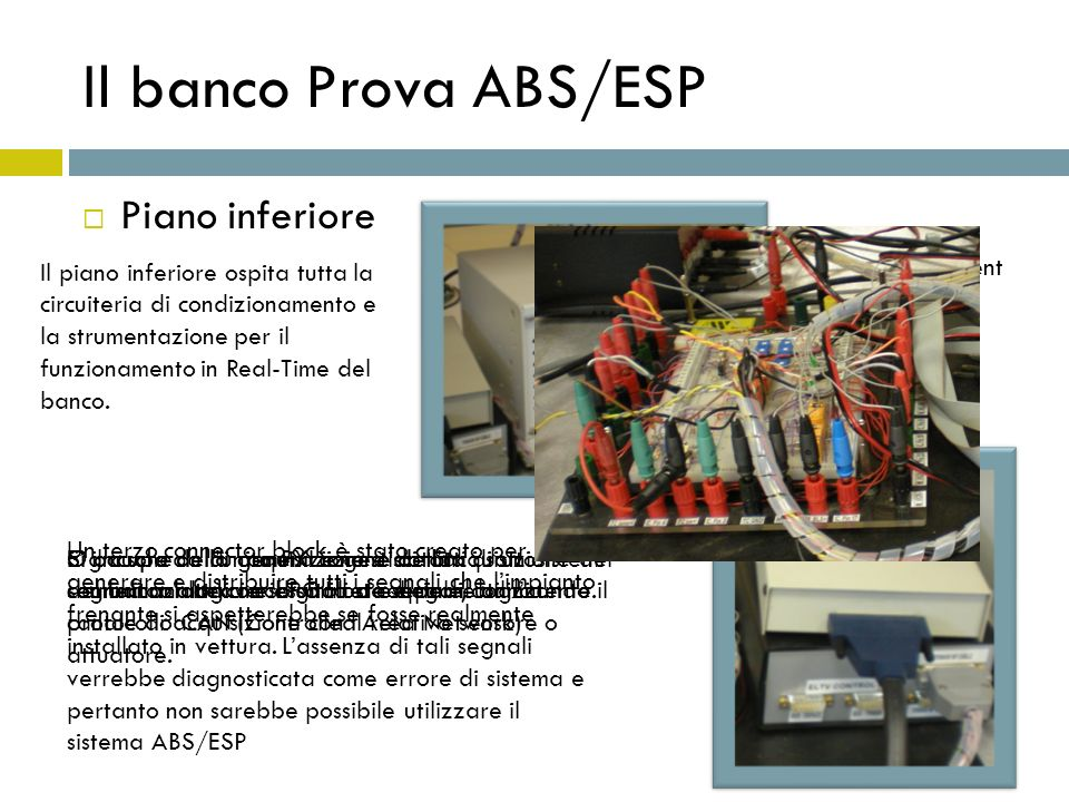 Il banco Prova ABS/ESP Piano inferiore
