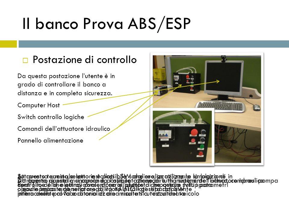 Il banco Prova ABS/ESP Postazione di controllo