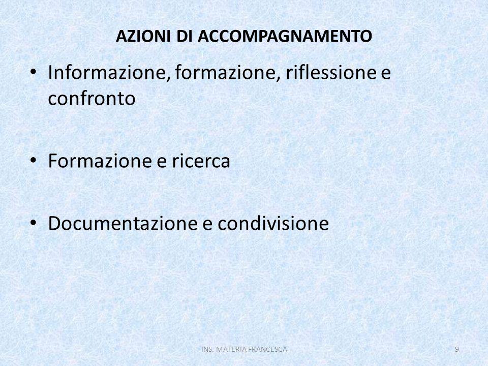 AZIONI DI ACCOMPAGNAMENTO