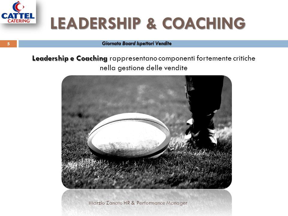 LEADERSHIP & COACHING Giornata Board Ispettori Vendite. Leadership e Coaching rappresentano componenti fortemente critiche.