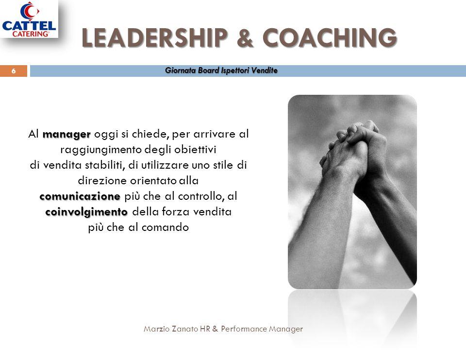 LEADERSHIP & COACHING Giornata Board Ispettori Vendite. Al manager oggi si chiede, per arrivare al raggiungimento degli obiettivi.