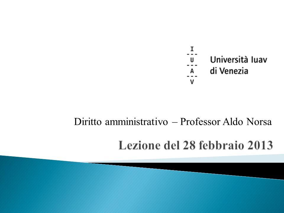 Diritto amministrativo – Professor Aldo Norsa