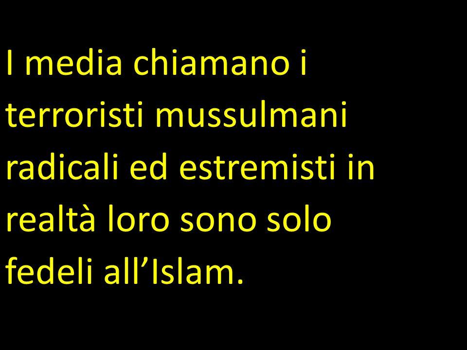 I media chiamano i terroristi mussulmani. radicali ed estremisti in.