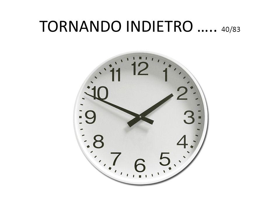 TORNANDO INDIETRO ….. 40/83