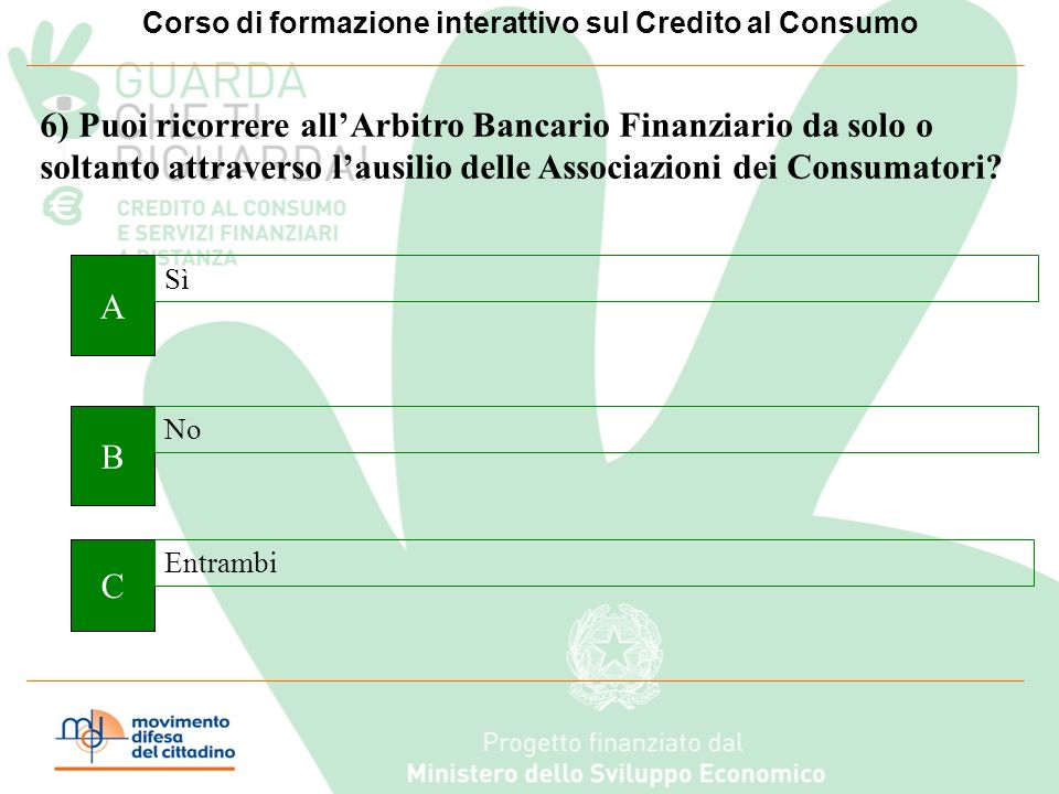 Corso di formazione interattivo sul Credito al Consumo