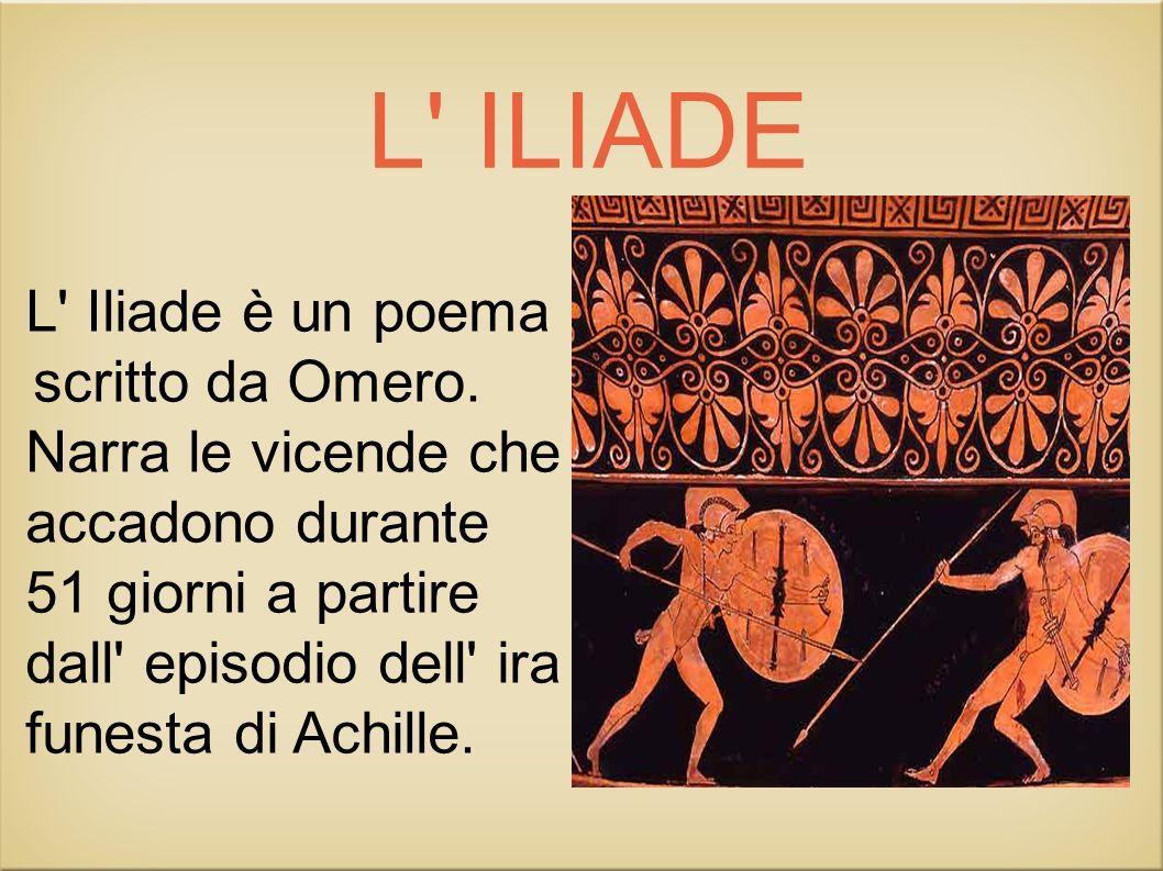 L ILIADE L Iliade è un poema