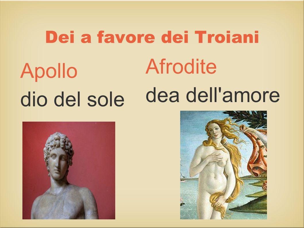 Dei a favore dei Troiani