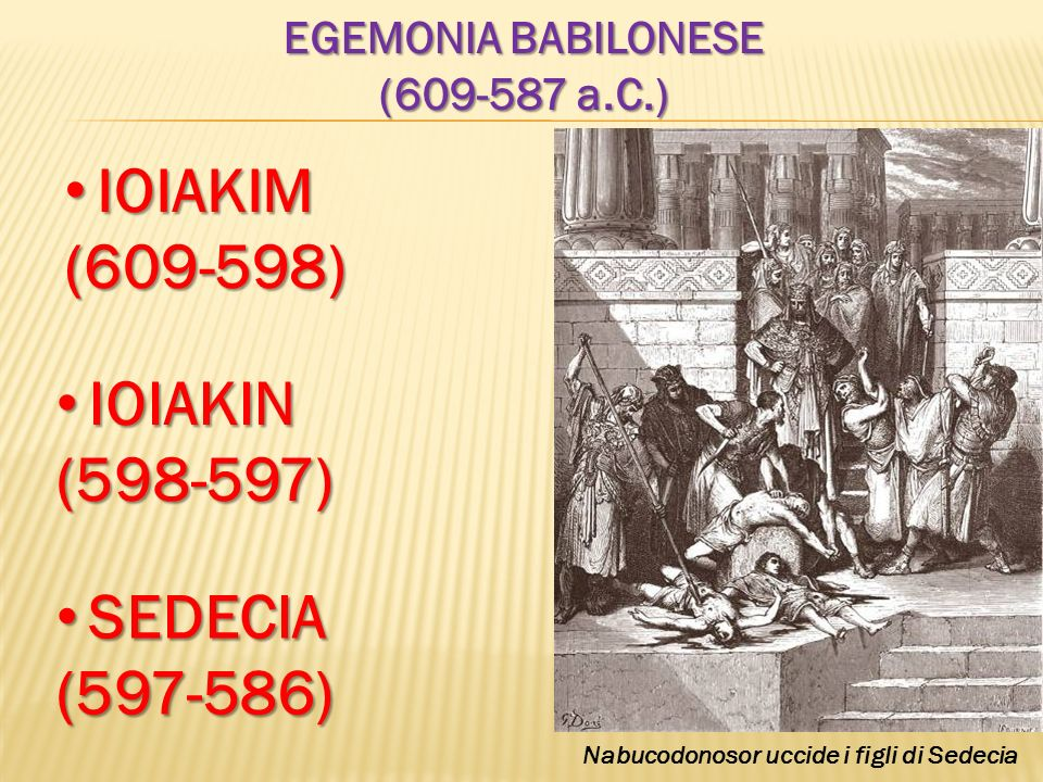Nabucodonosor uccide i figli di Sedecia