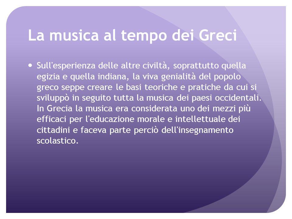 La musica al tempo dei Greci