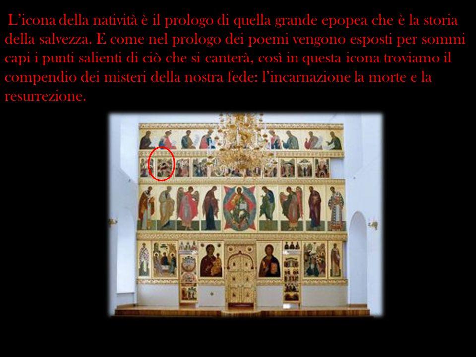 L'icona della natività è il prologo di quella grande epopea che è la storia della salvezza.