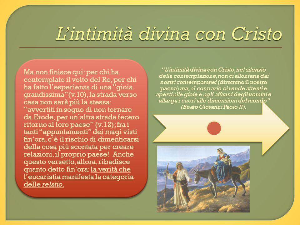 L'intimità divina con Cristo