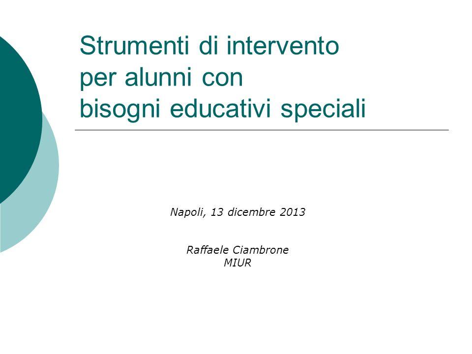 Strumenti di intervento per alunni con bisogni educativi speciali