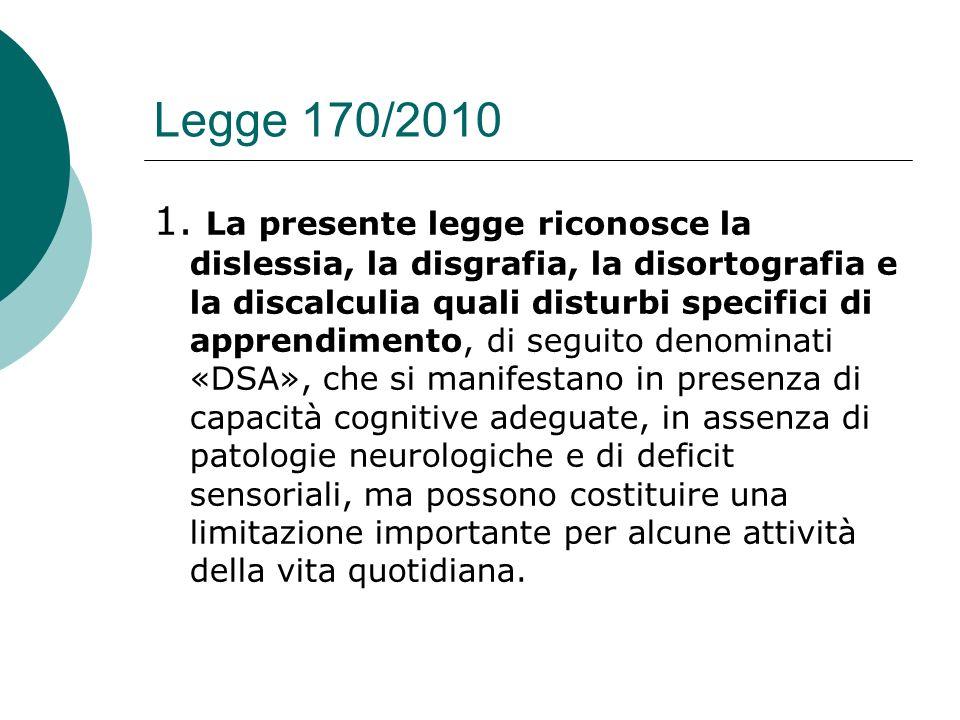 Legge 170/2010