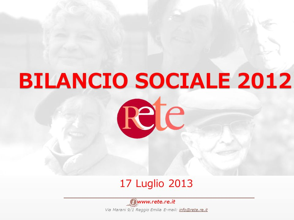 Via Marani 9/1 Reggio Emilia E-mail: info@rete.re.it