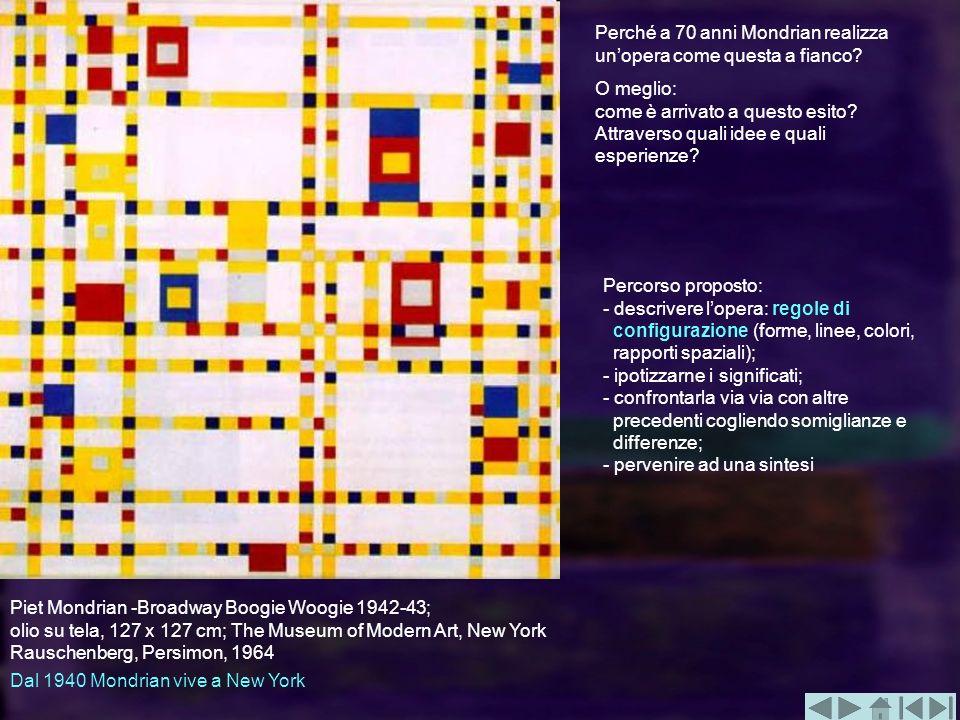 Perché a 70 anni Mondrian realizza un'opera come questa a fianco