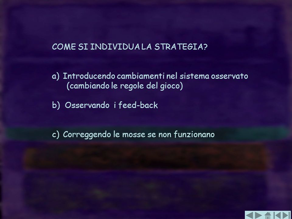 COME SI INDIVIDUA LA STRATEGIA