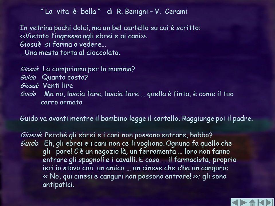 La vita è bella di R. Benigni – V. Cerami